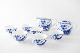 [台湾の茶器]<br>茶道具一式 蝶々