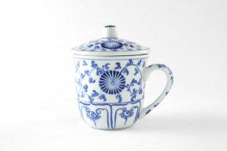 [バッチャン村(ベトナム)]<br>蓋つきのお茶用マグカップ
