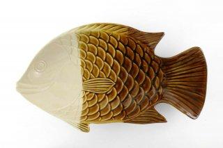 [ランパーン(タイ)]<br>魚の形の陽気な皿(大)