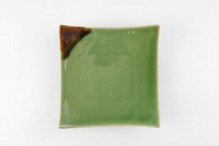 [ランパーン(タイ)]<br>正方形のカラー皿