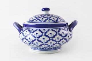 [ランパーン(タイ)]<br>青と白の模様がきれいなスープジャー