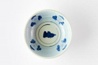 [江戸から近代の器]<br>鶉(うずら)と花の模様の中鉢