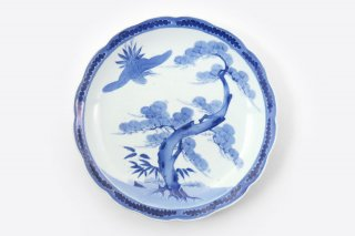 [江戸から近代の器]<br>11寸皿(松と鳥)