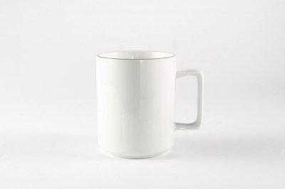 [白いテーブルウェア]<br>ラインマグ グリーン