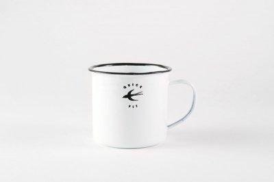 [白いテーブルウェア]<br> 琺瑯スワローマグカップ
