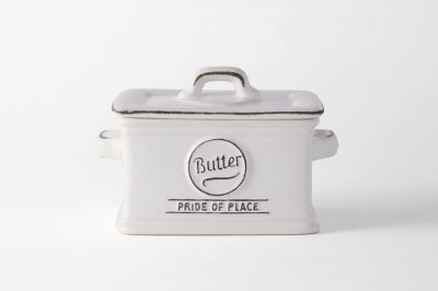 [ Emporio dell' Arte(タイ)]<br>ヴィンテージテイストのバターケース オフホワイト