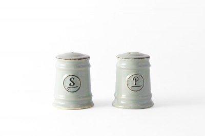 [ Emporio dell' Arte(タイ)]<br>スパイスボトル 塩コショウ入れのセット ライトグレー