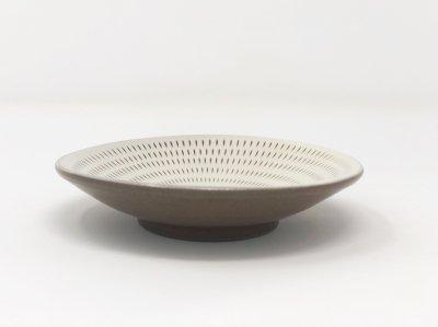 [小石原焼(福岡)]<br>飛び鉋4寸小皿