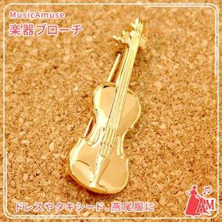 ブローチ ゴールド バイオリン VI GA-120-BR ミュージックカラーショップ(旧ミュージックアミューズ)