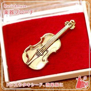 スタンダードブローチ バイオリン ゴールド MM-80P/VI/G ミュージックカラーショップ(旧ミュージックアミューズ)