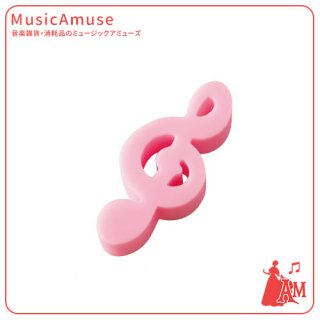 ト音記号消しゴム ピンク ER-10/PK ミュージックカラーショップ(旧ミュージックアミューズ)