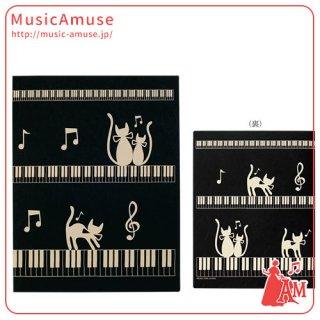 レッスンファイル 楽譜ファイル ネコとケンバン ブラック FL-95/CK/BL ミュージックカラーショップ(旧ミュージックアミューズ)