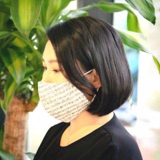 Singing Mask 楽譜柄マスク ホワイト