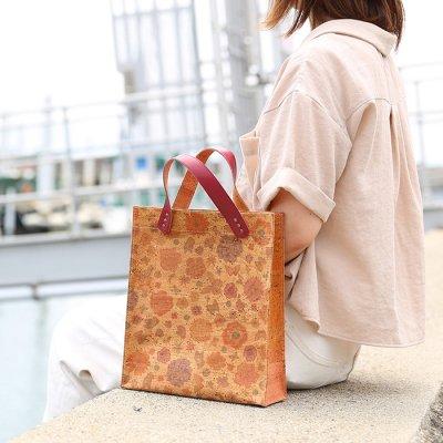 ボックストートバッグ 【花・蝶柄】