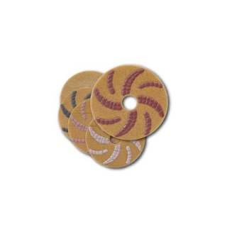 【石材研磨パッド】チーターパッド 17インチ ( STEP1〜5 各1枚 5枚セット)