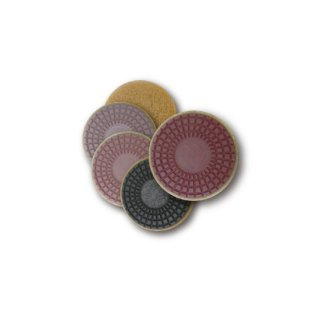 【石材研磨パッド】チーターパッド 8インチ ( STEP1〜5 各1枚 5枚セット)