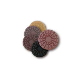 【石材研磨パッド】チーターパッド 5インチ ( STEP1〜5 各1枚 5枚セット)