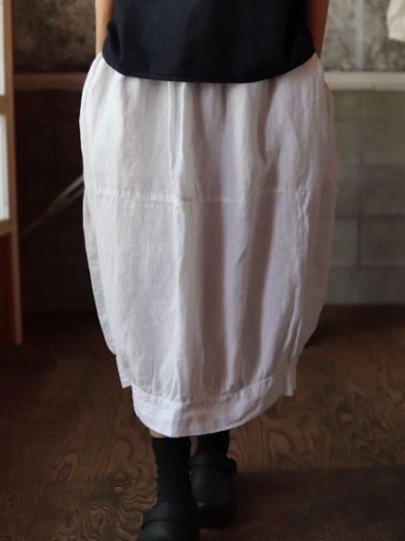 バルーンスカート 白