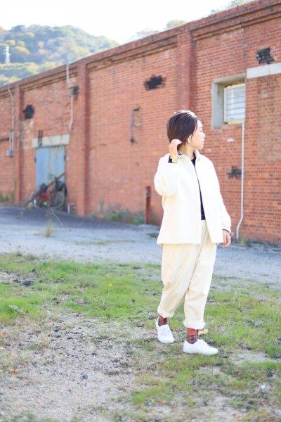 モッサー丸えりジャケット 白