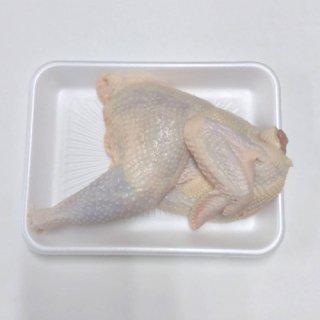 比内地鶏 中抜き半羽カット 冷凍