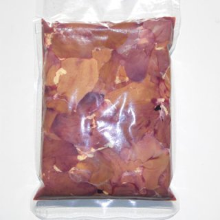 比内地鶏 レバー(ハツ付き) 1kg 冷凍