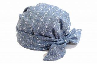 スカーフターバン 12083 ライトブルー 青 帽子 レディース 婦人 ファッション アンチエイジング 室内でかぶれる 脱毛対策 抗がん剤治療 サイズ調節 日本製 ネット通販 オールシーズン