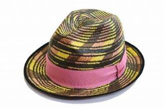 本パナマ パナマ メンズ ハット 紳士 1135023 ピンク 麦わら ファッション オシャレ カジュアル 涼しい帽子 ネット通販 送料無料 ネット通販 春夏