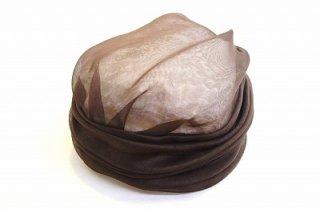 シルクターバン 32002 ブラウン 茶 帽子 レディース 婦人 シルク100% ファッション オシャレ カジュアル フォーマル 結婚式 同窓会 日本製 ネット通販 オールシーズン