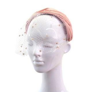 カチューシャ CH-81 ピンク 帽子 レディース 婦人 ハット ファッション オシャレ 結婚式 二次会 パーティー 同窓会 発表会 衣装 舞台 チュール付き ネット通販 オールシーズン