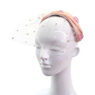 カチューシャ CH-85 ピンク 帽子 レディース 婦人 ハット ファッション オシャレ 結婚式 二次会 パーティー 同窓会 発表会 衣装 舞台 チュール付き ネット通販 オールシーズン