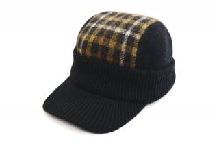DAKS ニット帽 つば付きニット D5525 ブラック 黒 帽子 メンズ 紳士 ダックス 防寒対策 ウール オシャレ ファッション アウトドア 日本製 無料ラッピング ネット通販 送料無料 秋冬