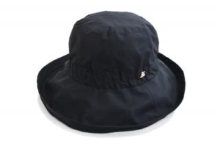つば広ハット elite chapeau エリートシャポー 17004 ブラック 黒 帽子 レディース 婦人 撥水加工 レインハット 晴雨兼用 紫外線対策 UV加工 ネット通販 オールシーズン