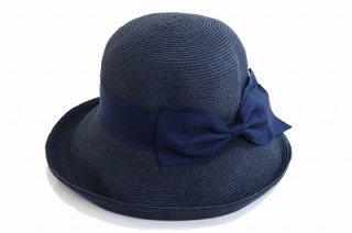 ペーパーハット 810861 ネイビー 紺 帽子 レディース 婦人 折りたたみ UVカット 紫外線対策 シンプル カジュアル プレゼント 母の日 旅行 ネット通販 送料無料 春夏