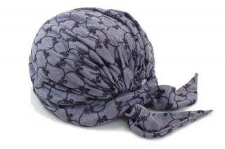 ターバン C-9 パープル 紫 帽子 レディース 婦人 ファッション オシャレ アンチエイジング 室内でかぶれる 脱毛対策 抗がん剤治療 サイズ調節 日本製 ネット通販 オールシーズン
