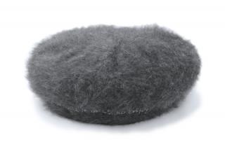 Haihai ハイハイ ファーベレー帽 LE-001 グレー レディース 婦人 帽子 アンゴラ 暖かい ワンポイント シンプル カジュアル フリーサイズ 日本製 ネット通販 秋冬