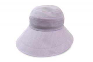 つば広ハット 113105 パープル 紫 レディース 婦人 帽子 UVカット 紫外線対策 日よけ UVケア 熱中症対策 洗える 母の日 日本製 ネット通販 春夏