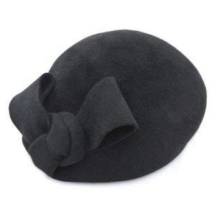SOPRATTUTTO CAPPELLI トーク帽 IZ125 ブラック 黒 レディース 婦人 M 55cm 小さいサイズ リボン イタリア製 冠婚葬祭 カクテルハット 帽子 ネット通販 秋冬