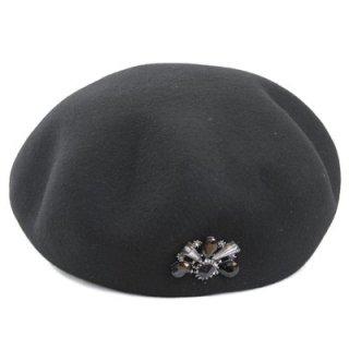 トーク帽 IZ326 ブラック 黒 ベレー帽 帽子 レディース 婦人 ファッション フェミニン おしゃれ カジュアル シンプル インポート イタリア製 無料ラッピング ネット通販 秋冬