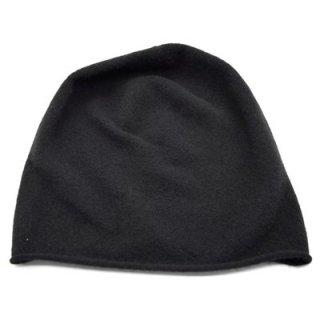 ウイルス対策 薄手ニット 2637011 ブラック 黒 カシミヤ100% カシミア 洗える 帽子 レディース 婦人 無地 脱毛対策 抗がん剤治療 日本製 ネット通販 秋冬
