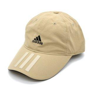 adidas アディダス ナイロンキャップベージュ メンズ レディース 男女兼用 帽子 吸汗速乾 洗濯機OK 洗える 57-60cm サイズ調節可 オールシーズン 111-111003
