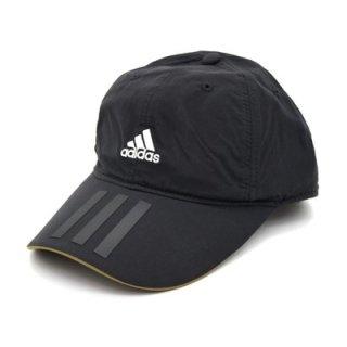 adidas アディダス ナイロンキャップ ブラック 黒 メンズ レディース 男女兼用 帽子 吸汗速乾 洗濯機OK 洗える 57-60cm サイズ調節可 オールシーズン 111-111003