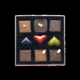 チョコレート9個