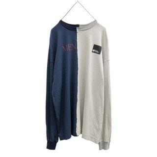 切替プリントL/S Tシャツ