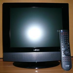 <img class='new_mark_img1' src='https://img.shop-pro.jp/img/new/icons41.gif' style='border:none;display:inline;margin:0px;padding:0px;width:auto;' />[地デジ非対応] DVDプレーヤー内蔵液晶テレビ 15V型 【バイ・デザイン】//美品!