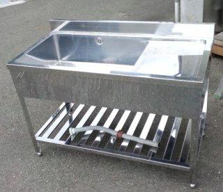 ステンレスシンク 流し台 (1槽/右側水切り)【W1200×D600×H890mm】業務用厨房機器/厨房用品