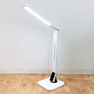 LEDデスクランプ【コスモテクノ】CDS-90・White//明るさ調整・タイマー・USBポート//美品・一部不良