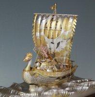 銀製 宝船 1号(鳳凰)