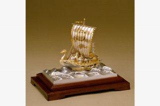 銀製 宝船 3号(七福神)