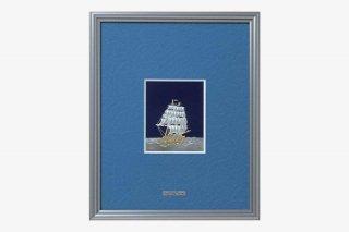 純銀   額  帆船  4号