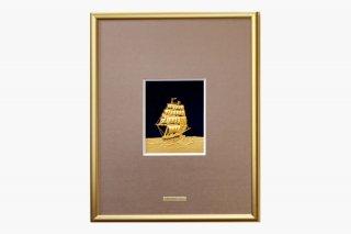 純金 額  帆船  4号